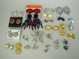 Lot of 22 Vintage/Contemporary Earrings - $4.09 Average Each Pair - $75.47