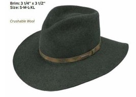 Stetson Water Repellent Crushable Hat PALMER Olive Mix Color Size XL - $63.36