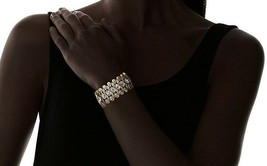 NEW Lesile Danzis Aged 14K Gold-Plated Stretch Bracelet with Crystals image 2
