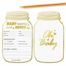50 Mason Jar Advice and Prediction Cards for Baby Shower Game, Baby Show... - £11.97 GBP