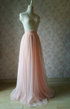 Wedding Bridesmaids Maxi Tulle Skirt Outfit, Baby Pink Blush Pink Rose Pink Tutu image 12