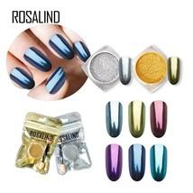 ROSALIND 1PCS Nail Gel Polish Chrome Pigment Decoration Nail Glitter Alu... - $3.99