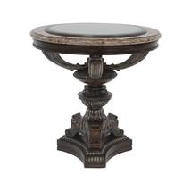 Benetti's Nina Luxury End Table w Philippine Seashells Top Hand Carved Wood - $1,299.00