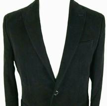Banana Republic Mens Sport Coat Size 40 Regular Tailored Fit Black 100% ... - $50.44