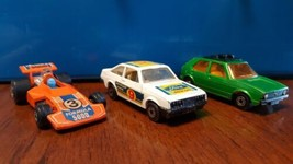 No. 7 VW Golf No. 9 Ford Escort RS2000 No. 36 Formula 5000 Matchbox Engl... - $40.00