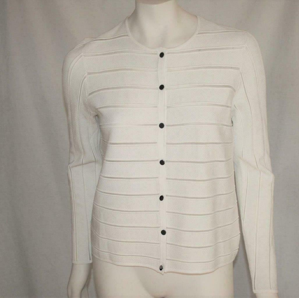 St John Cream Button Front Cardigan Medium -NWT- - $429.00