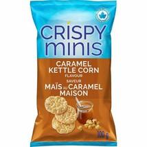12x Quaker Crispy Minis Caramel Kettle Corn Rice Chips 100g/3.52oz Canada FRESH! - $55.39