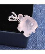 Christmas Gift, Sterling Silver Pink Turtle Pendant, Pink Tortoise Penda... - $34.00