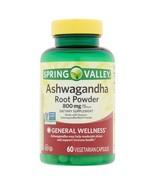 Spring Valley Ashwagandha Root Powder Vegetarian Capsules, 800 mg, 60 co... - $25.73
