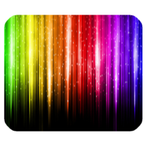 Mouse Pad Rainbow Light Colourful Abstract Art Design Animation Fantasy ... - ₹437.34 INR
