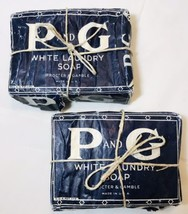 Vintage Proctor & Gamble P & G White Laundry Soap Bar Made In The USA 2 ... - $13.09
