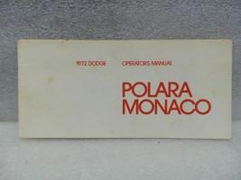 Dodge Monoco Polara 1972 Owners Manual 16347 - $16.82