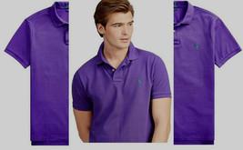 Polo Ralph Lauren Mens Classic Fit Big and Tall Mesh Polo Shirt purple  XLT - $49.49