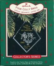 1987 - New in Box - Hallmark Christmas Keepsake Ornament - Four Colly Birds - $4.94