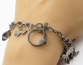 MEXICO 925 Sterling Silver - Vintage Animal Variety Charm Bracelet - B4107 - $115.50