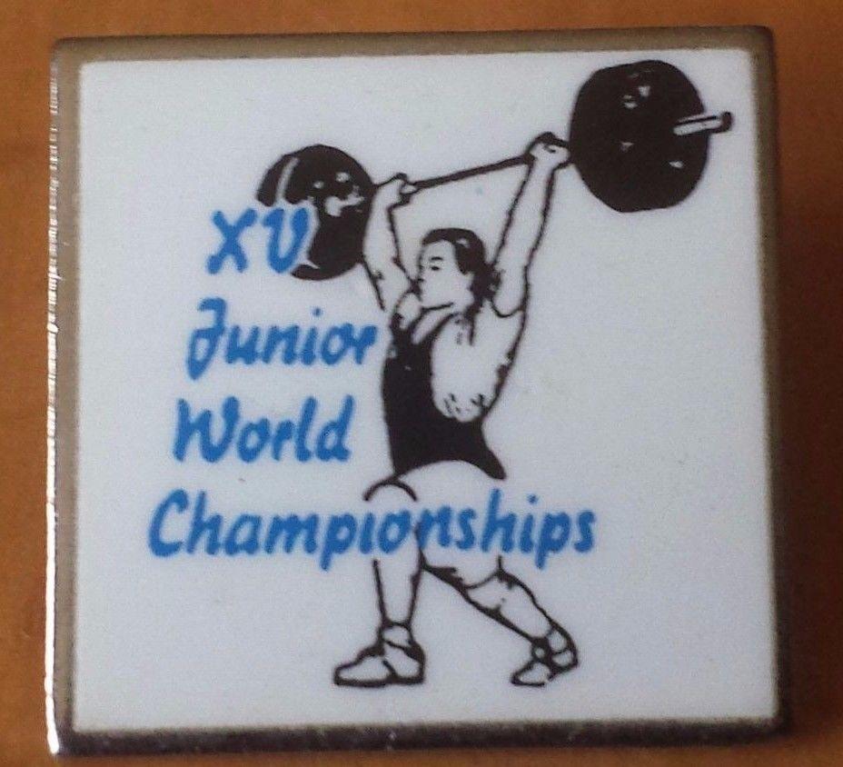 XV Junior World Weight Lifting Championships Lapel Pin