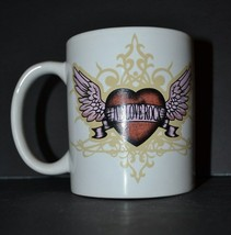 "Hard Rock Cafe Cozumel Coffee Mug ""Live, Love, Rock"" Heart with Wings Ce... - $12.09"