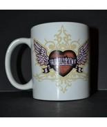 "Hard Rock Cafe Cozumel Coffee Mug ""Live, Love, Rock"" Heart with Wings Ce... - $12.09"