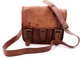 "New 11"" Pure Rustic Leather Unisex Formal Brown Travel Men Laptop Messen... - $29.59"
