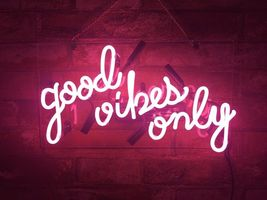"New Good Vibes Only Home Decor Acrylic Back Neon Light Sign 14"" Fast Ship - $60.00"