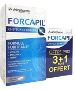 Arkopharma Forcapil头发+ Nails 4x 60 Tablets = 240 Capsules 4 Months I... - $44.54