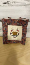 """Longaberger Bag Canvass Americana Flags Small 8"""" By 9"""" Tall - $19.57"""