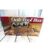 "Wood Tool Box (New) MFD with Oak Veneer 16-1/2""W X 7-3/4""D X 7-1/2""H - $49.49"