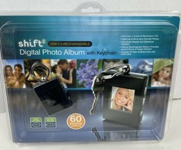 Shift 3~Digital Photo Album Keychain USB 2.0 Rechargeable 60 Photo Capacity - $12.77