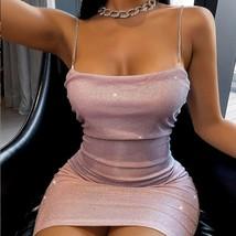 Women Fashion Spaghetti Strap Mini Dress Slip Dress Women Sexy Slim Fit ... - $16.82+
