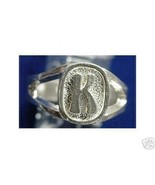 LOOK Sterling Silver Initial Letter K Ring Jewelry - $19.09