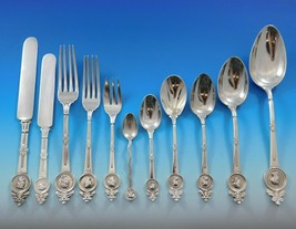 Medallion Gorham Sterling Silver Flatware Service Dinner Set 136 pcs Multi motif - $24,500.00