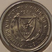 KM #42 1981 Cyprus 25 Mils AU #0070 - $1.99