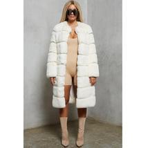 Women's High Fashion Long Faux Rabbit Fur Coat image 4