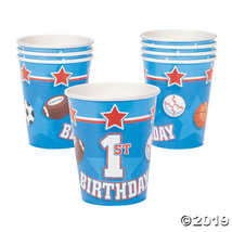 All Star 1st Birthday Cups - $2.61