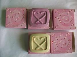 Candy Cane Soap AVON Travel Size Lot 5 Soft Pink Vanilla Cream White Chr... - $9.89