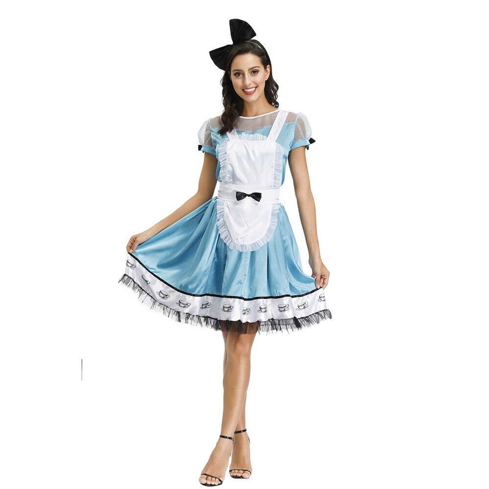 Ce in wonderland costume for women adult alice cosplay costume blue fancy dress fantasy costumes