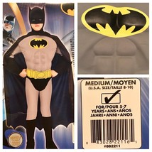 Super DC Heroes Deluxe Muscle Chest Batman Child's Halloween Costume Med... - $32.71