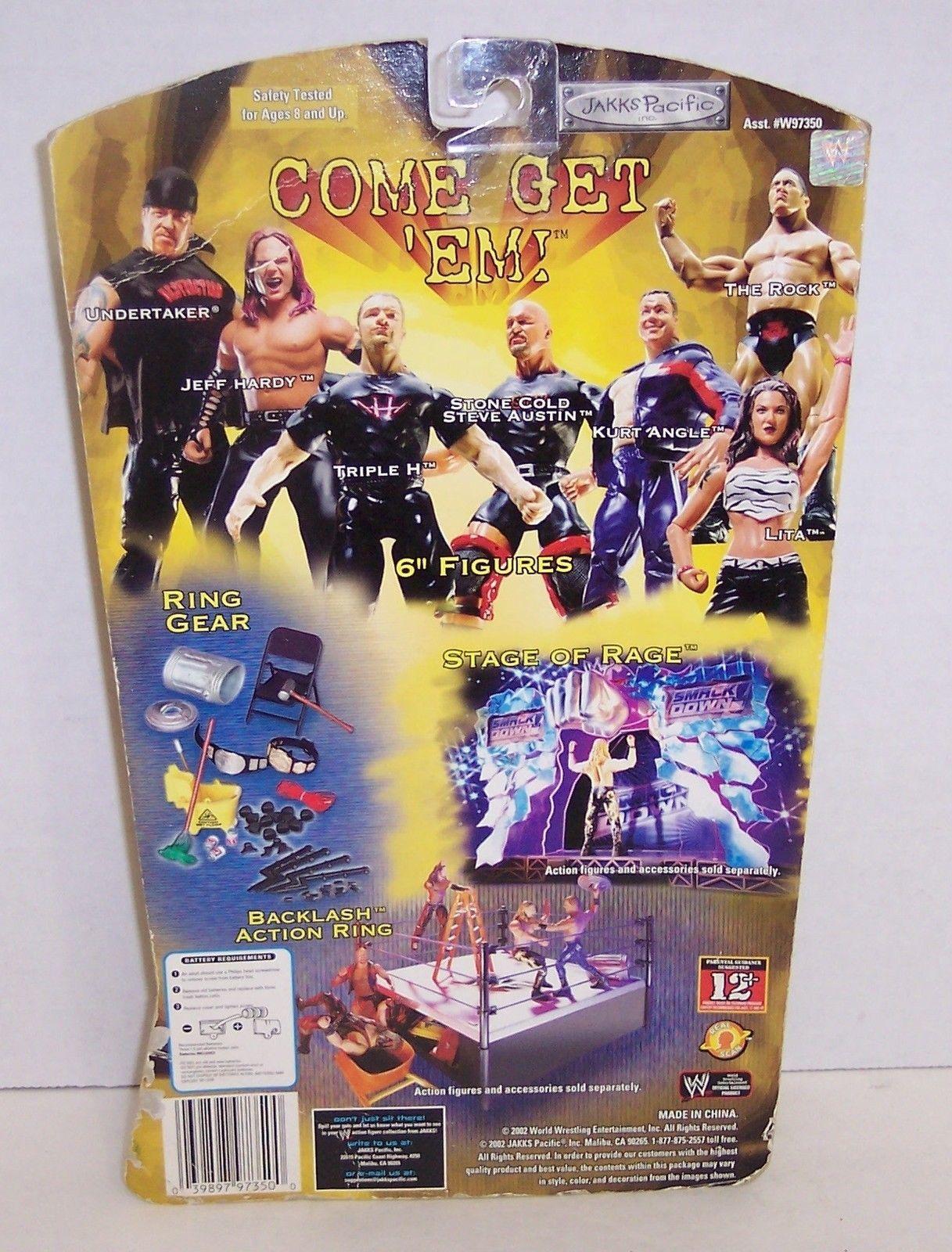 "New! 2002 Jakk's Pacific Signature Jams ""Steve Austin"" Action Figure WWE [974]"