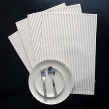Cotton Placemats Stripes Beige & White 4/pack - $15.79