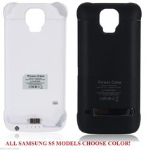 Backup Power Bank Battery charger back cover Case for Samsung Galaxy S5 SV Phone - $25.99