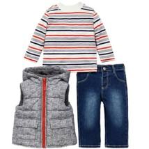 Little Me Boys 3-Piece Jacket, Top, Pant Outfit Set Denim - $24.99
