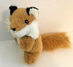 Unipak red fox plush mini stuffed animal orange white small - $9.89