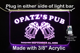 Personalized Pub Bar Sign, LED Multi Color Changing - $142.00
