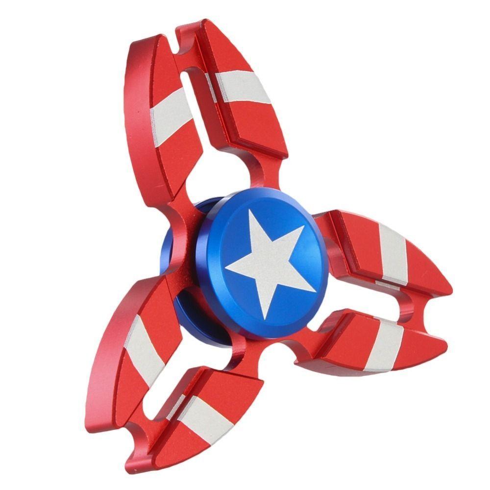 Captain America Shield Hand Spinner Metal EDC For Autism, ADHD Fidget Spinner