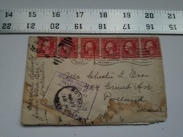 Home Treasure Postal Cover Envelope Boston Mass 1912 Postmark Portland Maine - $9.49