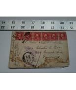 Home Treasure Postal Cover Envelope Boston Mass 1912 Postmark Portland M... - $9.49