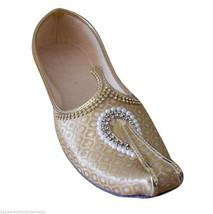 Men Shoes Indian Handmade Mojaries Wedding Groom Loafers Cream Jutti US 7-12 - $39.99