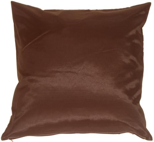 Pillow Decor - White with Brown Bold Fern Throw Pillow