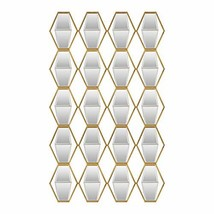 Uttermost Vertical Mirrored Wall Art in Gold - €430,74 EUR