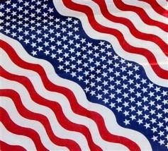 "Wholesale Lot 6 22""x22""  USA American Patriotic WAVING Flag Bandana Band... - $15.55"